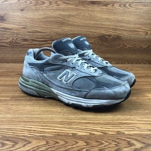 New Balance 993 Silver Athletic Walking Shoes